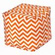 OC Fun Saks Chevron Bean Bag Cube Ottoman; Orange