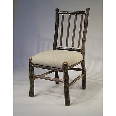 Flat Rock Furniture Berea Rail Back Side Chair; Burlap