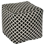 OC Fun Saks Bamboo Bean Bag Cube Ottoman; Black