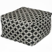 OC Fun Saks Links Bean Bag Ottoman; Black