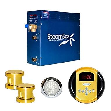 Steam Spa SteamSpa Indulgence 12 KW QuickStart Steam Bath Generator Package; Gold