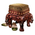 Design Toscano The Maharajah's Elephants Sculptural Upholstered Footstool