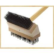 Texas Brush Grill Brush; Black Steel/Coarse