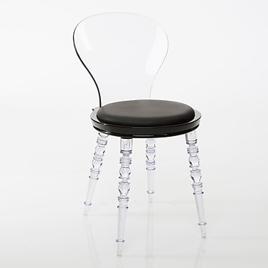 American Atelier Living Wynona Clear Side Chair; Black
