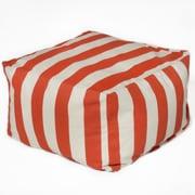 OC Fun Saks Cabana Bean Bag Ottoman; Orange
