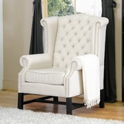 Wholesale Interiors Baxton Studio Chair (Set of 2); Light Beige