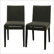 Wholesale Interiors Baxton Studio Square Parsons Chair (Set of 2); Black