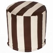 OC Fun Saks Cabana Bean Bag Ottoman; Brown