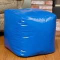 Le Pouf Parker Bean Bag Cube Ottoman; Blue