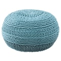 Rizzy Home ColorCable Knit Ottoman; Blue