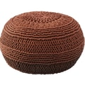 Rizzy Home ColorCable Knit Ottoman; Rust