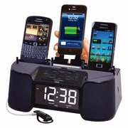 DOK 4 Port Charger with Speaker, Alarm, Clock and FM Radio