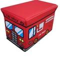 NOYA USA Children's Folding Storage Ottoman; Red