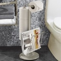 Better Living Products Free Standing The Toilet Caddy; Satin Nickel