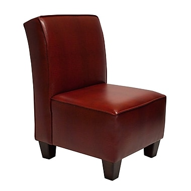 Carolina Accents Miller Croc Chair; Red