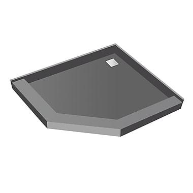 Tile Redi Neo Angle Square Shower Pan; 5.75'' H x 38'' W x 38'' D