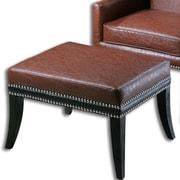 Uttermost Detrick Leather Ottoman