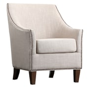 Abbyson Living Jennifer Fabric Nailhead Trim Arm Chair