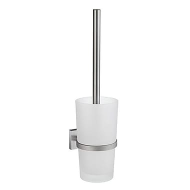 Smedbo House Wall MountedToilet Brush and Holder; Brushed Chrome