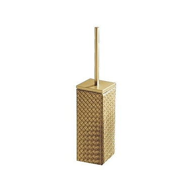 Gedy by Nameeks Marrakech Free Standing Toilet Brush and Holder; Gold