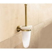 Gedy by Nameeks Romance Glass Wall Mounted Toilet Brush Holder; Chrome