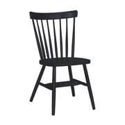 International Concepts Copenhagen Arrowback Side Chair; Black