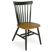 International Concepts Copenhagen Arrowback Side Chair; Cherry and Black