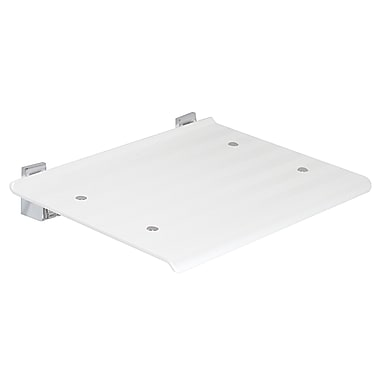 WS Bath Collections Leo Wall-Mount Shower Seat; White