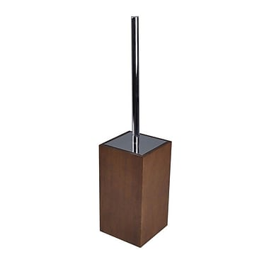 Gedy by Nameeks Cubico Free Standing Toilet Brush and Holder; Brown