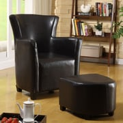 Hokku Designs Haven Chair and Ottoman; Dark Espresso