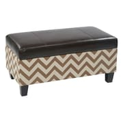 Office Star Ave Six Hudson Storage Ottoman; Espresso