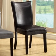EnitialLab Lax Contemporary Side Chair (Set of 2); Black