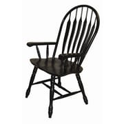Sunset Trading Sunset Selections Arm Chair; Antique Black