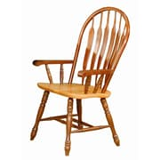 Sunset Trading Sunset Selections Arm Chair; Nutmeg / Rich Honey Light Oak