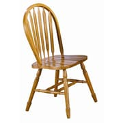 Sunset Trading Sunset Selections Arrow Back Side Chair; Rich Honey Light Oak