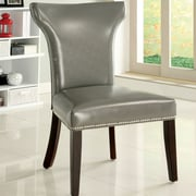 Hokku Designs Modern Side Chair (Set of 2); Gray