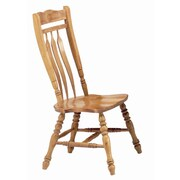 Sunset Trading Sunset Selections Aspen Comfort Back Side Chair (Set of 2); Rich Honey Light Oak