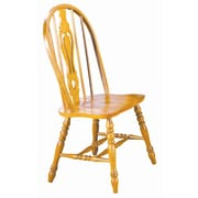 Sunset Trading Sunset Selections Keyhole Back Side Chair (Set of 2); Rich Honey Light Oak