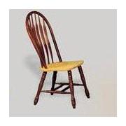 Sunset Trading Sunset Selections Comfort Back Side Chair; Nutmeg / Rich Honey Light Oak