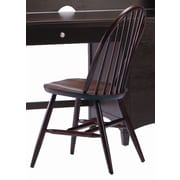 Bolton Furniture Wakefield Traditional Bow Back Desk Side Chair; Espresso