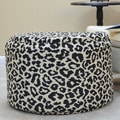Carolina Cottage Ellis Pouf Ottoman; Black