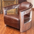 Home Loft Concept Weatherson Leather and Metal Club Chair