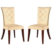 International Design Traditional Parsons Chair (Set of 2); Tan