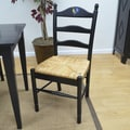 Carolina Cottage Maggie Rooster Ladder Back Chair; Antique Black