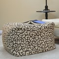 Carolina Cottage Ellis Pouf Ottoman; Chocolate