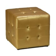 Cortesi Home Apollo Cube Ottoman; Gold