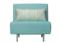 Cortesi Home Savion Convertible Chair; Aqua
