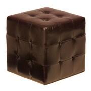Cortesi Home Braque Cube Ottoman; Espresso