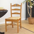 Carolina Cottage Maggie Rooster Ladder Back Chair; English Pine