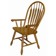 Sunset Trading Sunset Selections Arm Chair; Rich Honey Light Oak